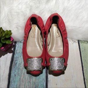 Ellen Tracy Phoebe Red Flats
